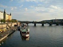 Rio de Vltava em Praga Imagem de Stock Royalty Free