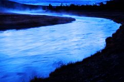 Rio de Wildnerss no amanhecer Imagens de Stock Royalty Free