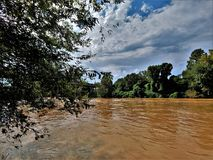 Rio de Yadkin perto de Winston-Salem, North Carolina imagens de stock