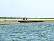 Rio de Yamuna, o Rio Brahmaputra, Bogra, Bangladesh Imagens de Stock