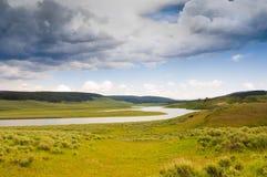 Rio de Yellowstone imagens de stock royalty free