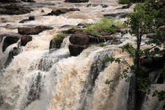 Rio de Zambezi em Victoria Falls (Zâmbia) imagem de stock