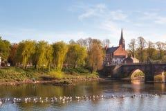Rio Dee Chester City Reino Unido Imagens de Stock Royalty Free