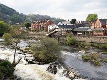 Rio Dee e estação de Llangollen Imagens de Stock