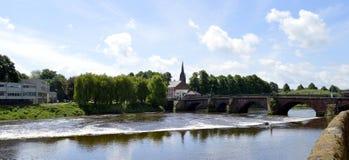 Rio Dee em Chester Fotos de Stock Royalty Free