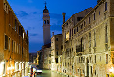 Rio dei Greci at the blue hour Royalty Free Stock Photography