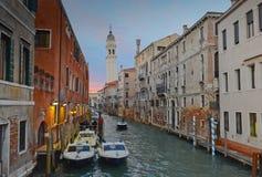 Rio Dei Greci Venise au crépuscule Image libre de droits