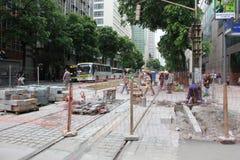 Rio del centro non crea boulevard motorizzato del veicolo Fotografie Stock