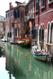 Rio del Palazzo and old houses in Venice, Italy Royalty Free Stock Photos