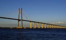 Rio do ¡ de Rosario-Victoria Bridge e de ParanÃ, em Rosario, Argentina imagem de stock