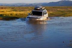 Rio do cruzamento no Mongolia Imagem de Stock