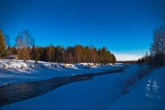 Rio do inverno Imagens de Stock Royalty Free