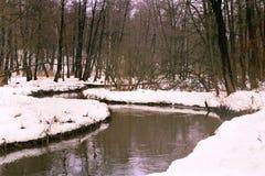 Rio do inverno Foto de Stock Royalty Free