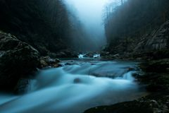 Rio do inverno Kurdzips Rússia fotografia de stock