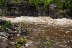 Rio do pombo no parque estadual grande de Portage Imagens de Stock