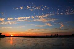 Rio do por do sol Imagem de Stock Royalty Free