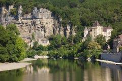 Rio Dordogne no La Roque-Gageac imagem de stock royalty free