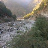 Rio dos Himalayas imagens de stock