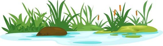 Rio dos lótus da ilustração Imagens de Stock