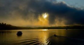 Rio dourado Imagens de Stock