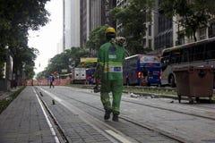 Rio du centre ne crée aucun boulevard motorisé de véhicule Images stock