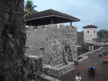 Castillo of San Felipe de Lara located near the Lake of Rio Dulce, Izabal, Guatemala, Central America 43. Rio Dulce is an awesome place located in the north east stock images