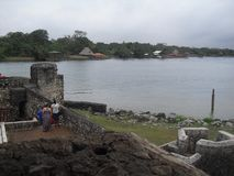 Castillo of San Felipe de Lara located near the Lake of Rio Dulce, Izabal, Guatemala, Central America 34. Rio Dulce is an awesome place located in the north east royalty free stock photo