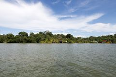 Rio Dulce River. View from sailboat Stock Photo