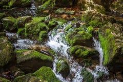 Rio e cachoeira subterrâneos em Romênia Imagem de Stock Royalty Free