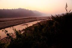 Rio e crepúsculo Fotos de Stock