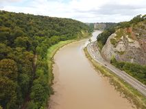 Rio e estrada de Avon fotografia de stock