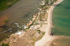 Rio e mar Imagem de Stock Royalty Free