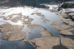 Rio e rocha Imagens de Stock