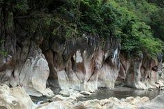 Rio e rochas de Tinipak Fotos de Stock