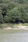 Rio e Sennindo de Mogami imagens de stock