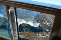 Rio e Victoria Falls de Zambesi zimbabwe imagem de stock royalty free