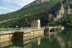 Rio Ebro Embalse de Sobron 01 Royaltyfri Bild