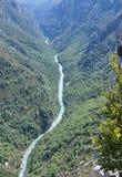 Rio em Desfiladeiro du Verdon Foto de Stock