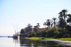Rio em Egito, Nilo em África foto de stock royalty free