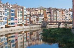 Rio em Girona. Spain Fotografia de Stock Royalty Free