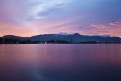 Rio em Kampot Imagem de Stock