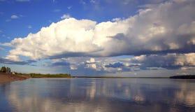 Rio em Sibéria imagens de stock