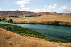 Rio entre Ancara e Kaysery, Turquia Imagem de Stock Royalty Free