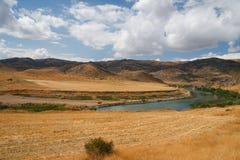 Rio entre Ancara e Kaysery, Turquia Fotografia de Stock