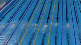 Rio 2016 - estádio aquático olímpico imagem de stock