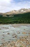 Rio Fitz Roy dans le Patagonia Images libres de droits