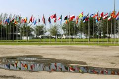 Rio 20 - Flags of Countries. Rio de Janeiro, June 20, 2009.Flags hoisted from various countries during the Rio 20 conference at Riocentro, in the city of Rio de Stock Photo