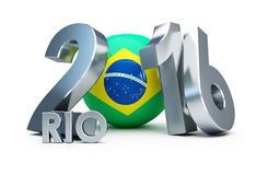 Rio 2016 Football. 3d Illustrations. Brazil,Rio 2016 Football. 3d Illustrations Stock Photography