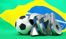 Rio 2016 Football. 3d Illustrations Stock Image