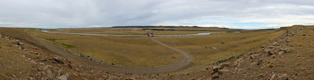 Rio Gallegos panorama Obraz Royalty Free